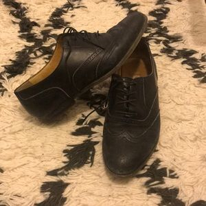Cole haan black leather brogue oxfords